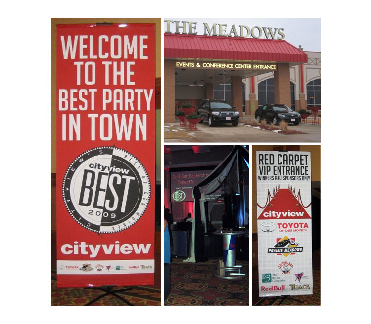 Cityview Best of Des Moines Banners and Event Design