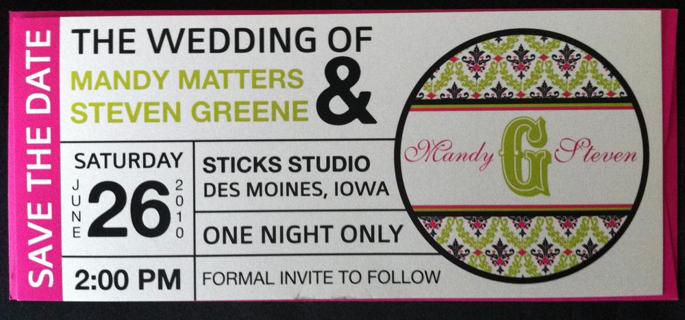 AJCreative Custom Wedding Invitations Des Moines Iowa