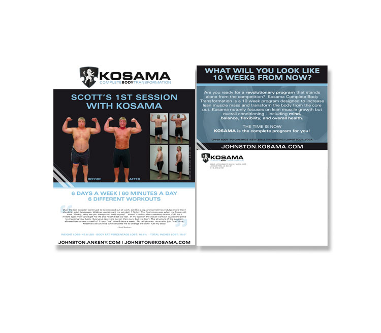 Kosama Direct Mail Flyer