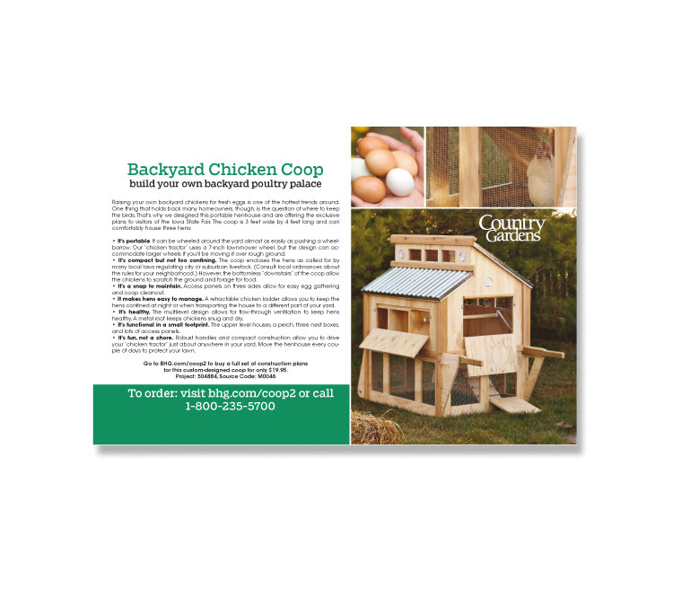 Country Gardens Chicken Coop Postcard
