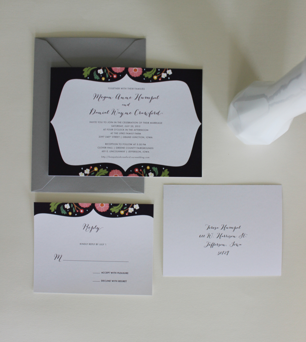 AJCreative Wedding Invitations Des Moines Iowa