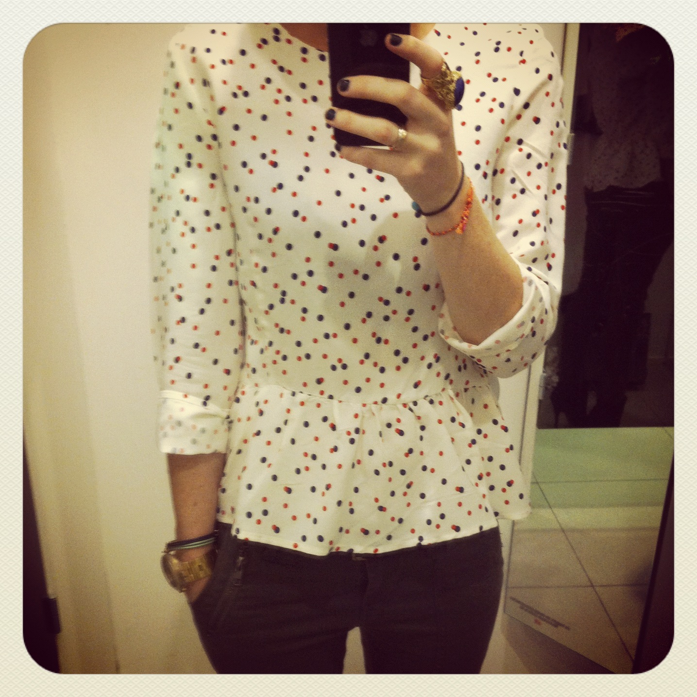 hm dotted top