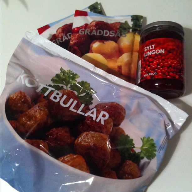 All the necessary ingredients to make your own Ikea meatballs