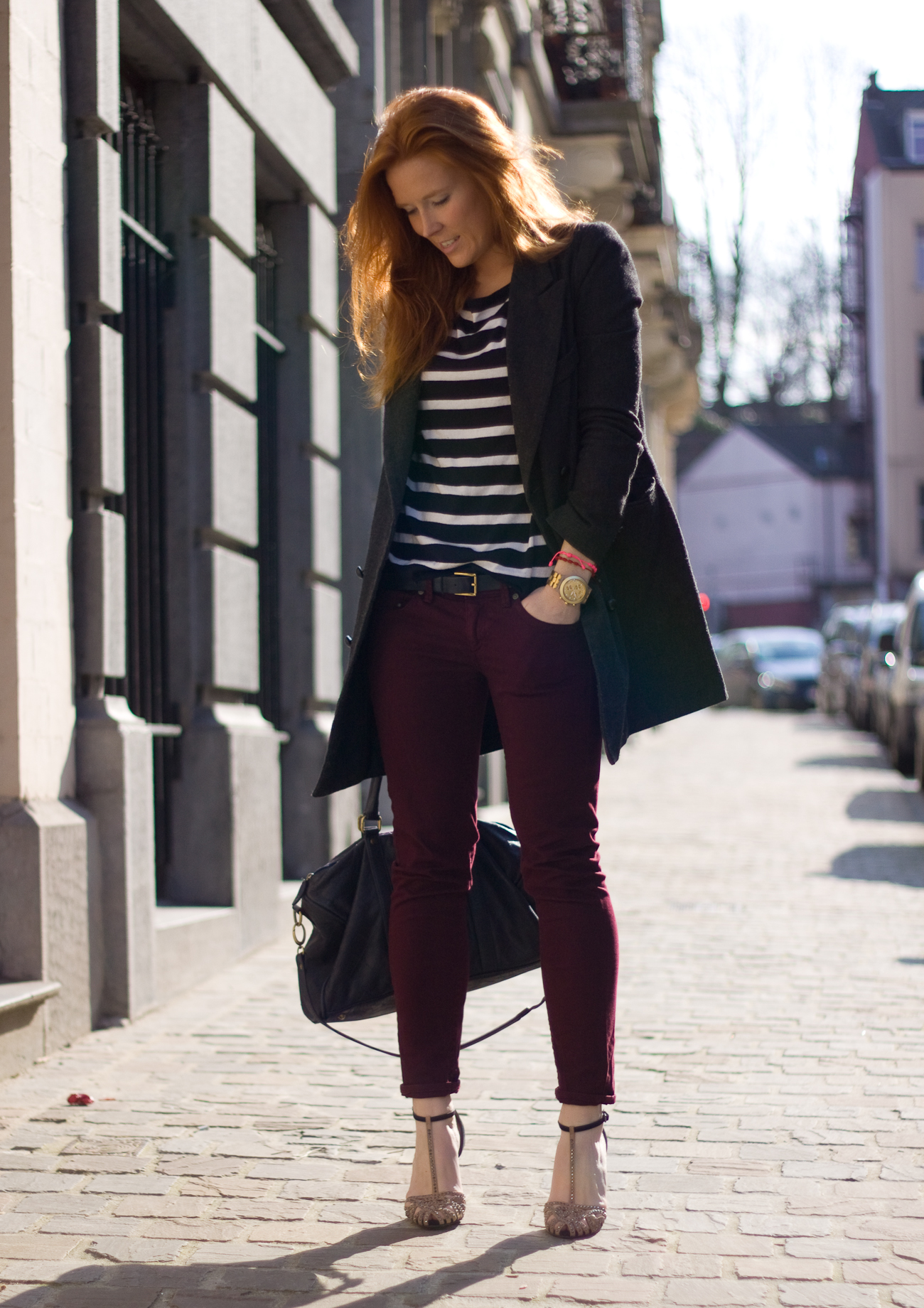 mango burgundy jeans