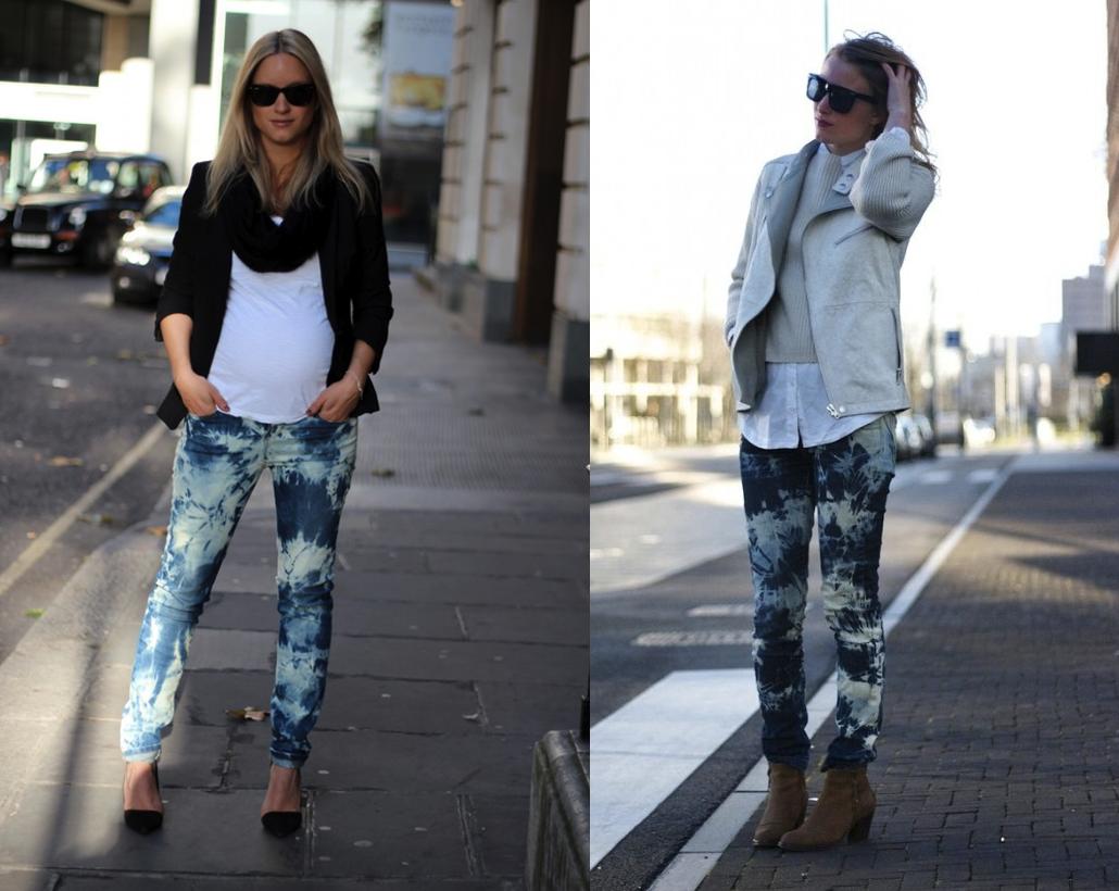 tie dye jeans DIY