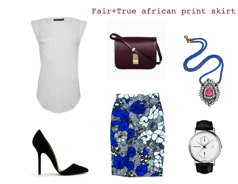 fair+true african print skirt