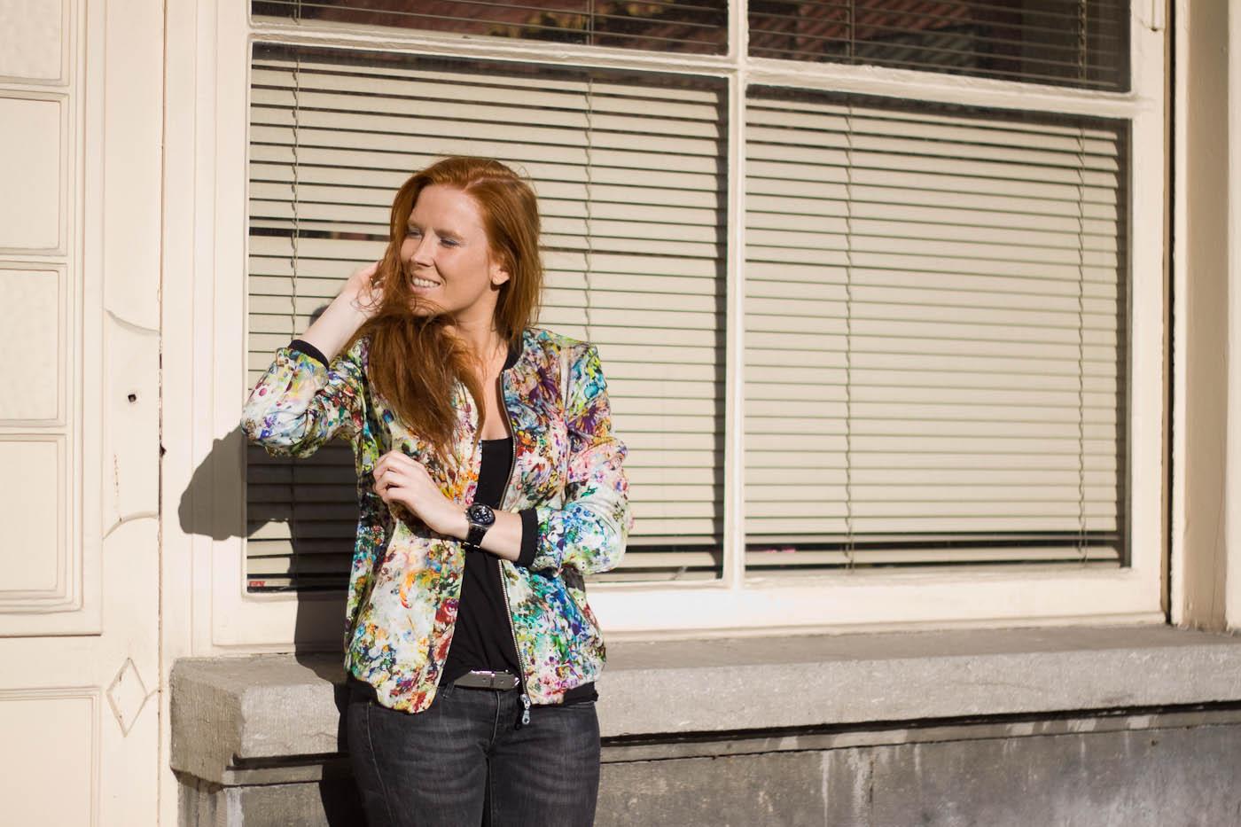 TFC - zara floral bomber jacket