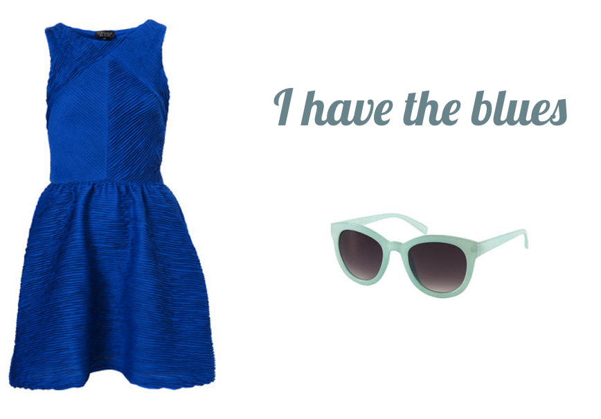 blue topshop dress