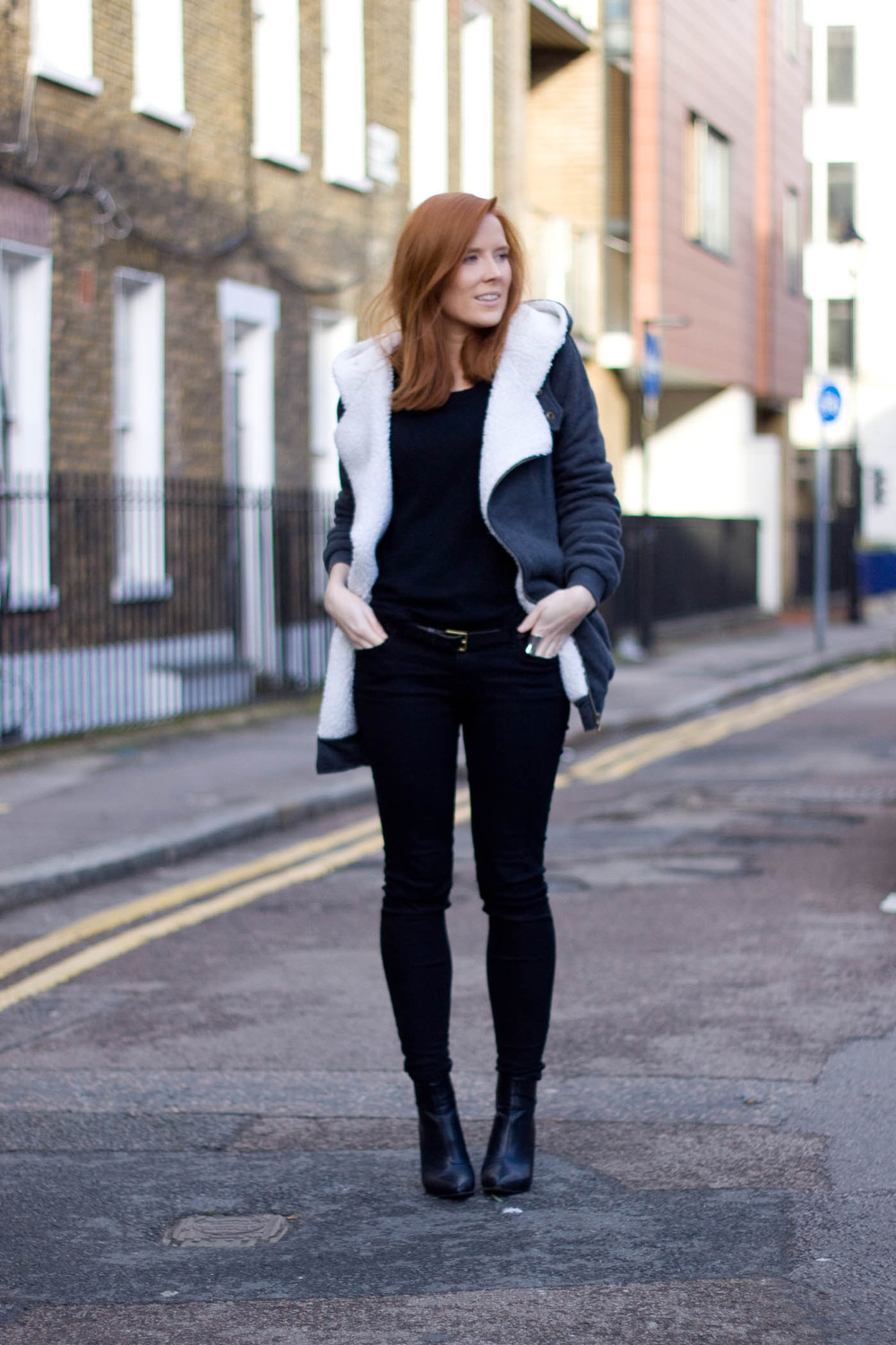 Yestyle  jacket -  Urban Outfitters  jeans - H&M jumper and shoes - Asos belt
