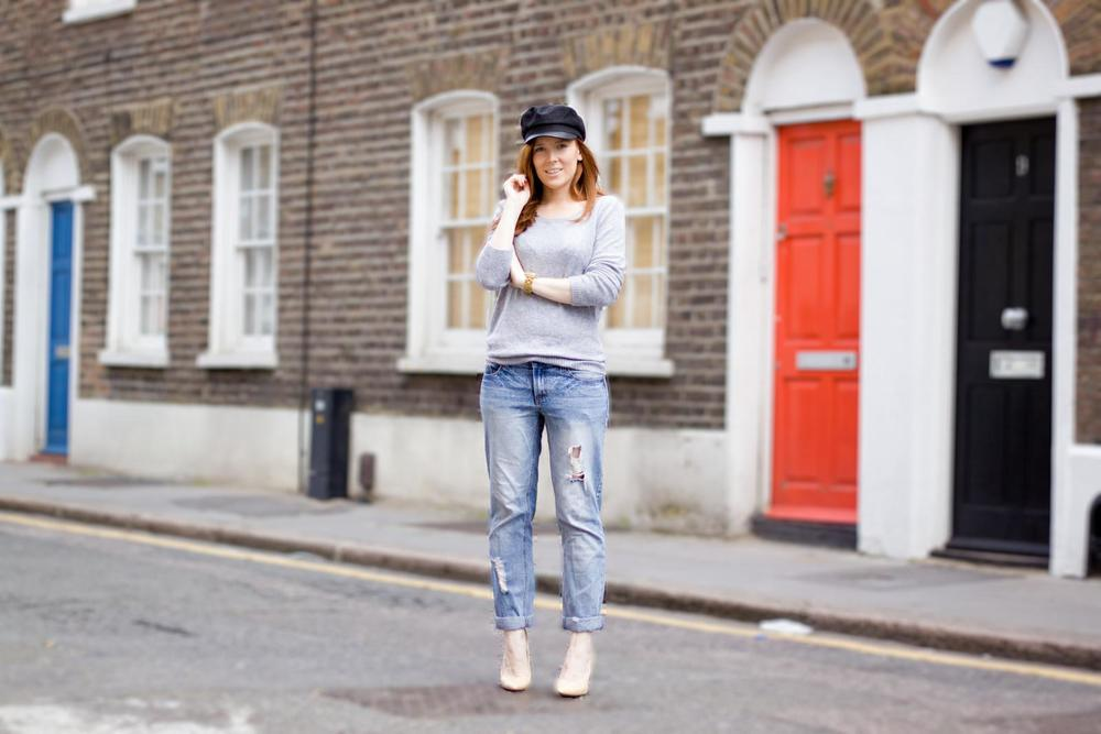 Urban Outfitters cap / H&M jumper / Asos jeans / Mango heels
