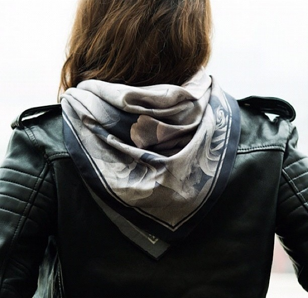 Leather and scarves