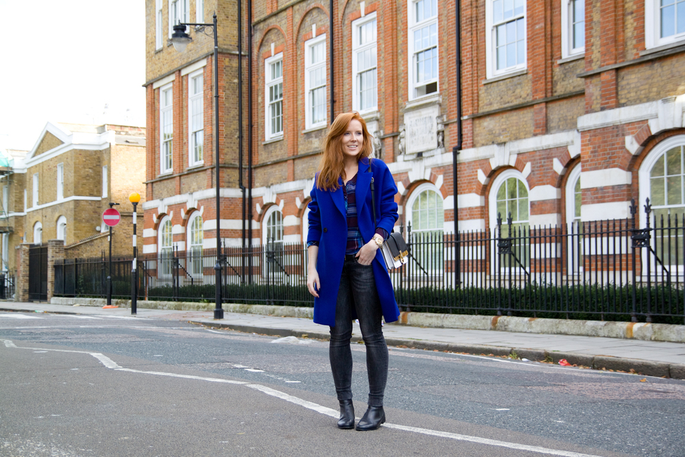 Essentiel oversized coat / H&M shirt and jeans / Topshop chelsea boots / Zara bag