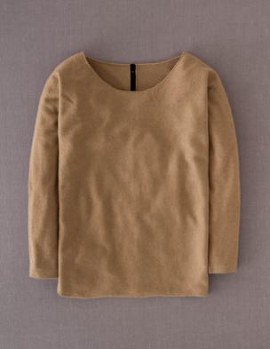 Cashmere button back jumper