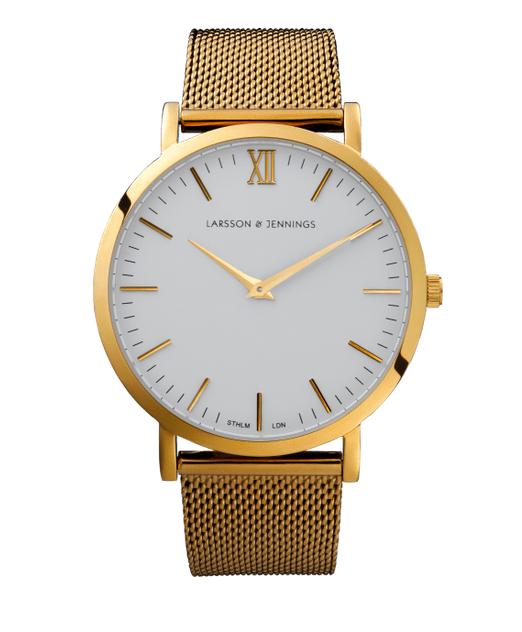 Larsson&Jennings gold chain metal watch