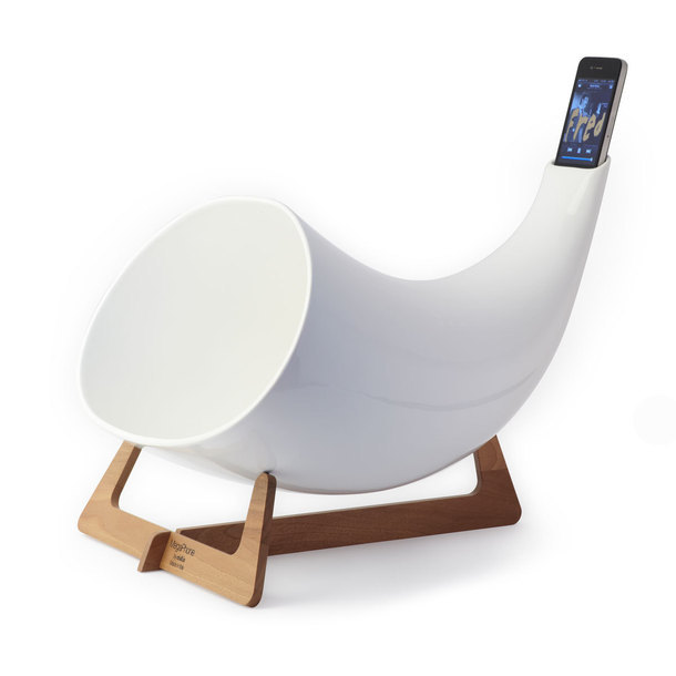 Megaphone iPhone Amplifier White by en&is