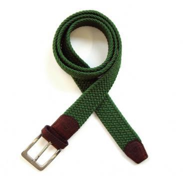 Essential Woven Belts with Leather Trim