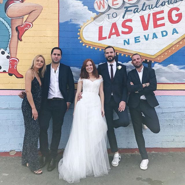 The best crew a bride & groom could want ❤️ See you in 10 years in Vegas for the vow renewals.