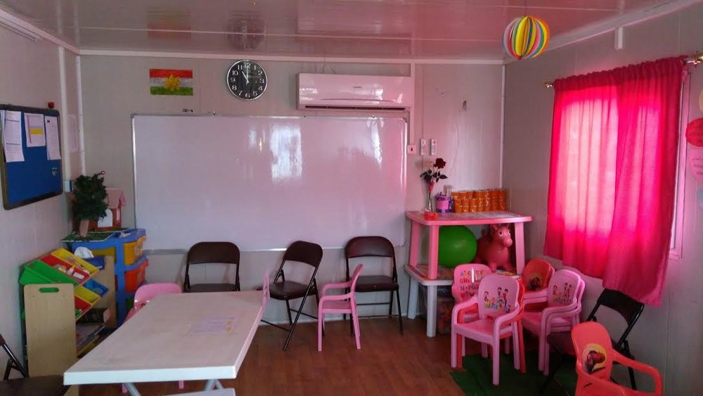 Inside one of the rooms for the early childhood education