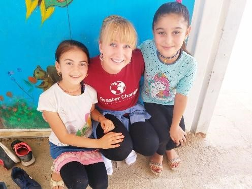 Alyssa with some students from her dance class.