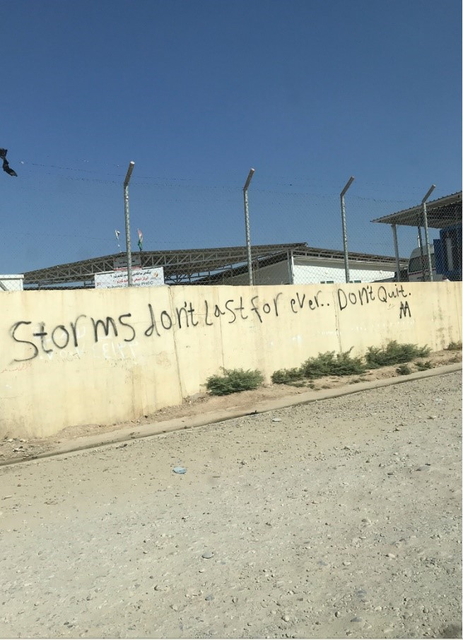 A message of hope in the camp