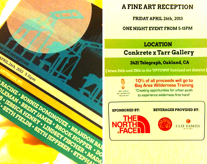 Eat, drink, look at art, come say hello!