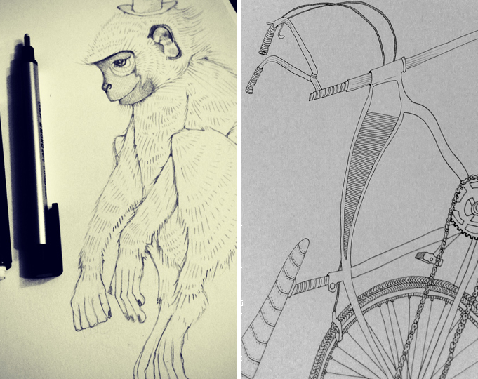 In the beginning there was a thoughtful monkey and a sweet bike...