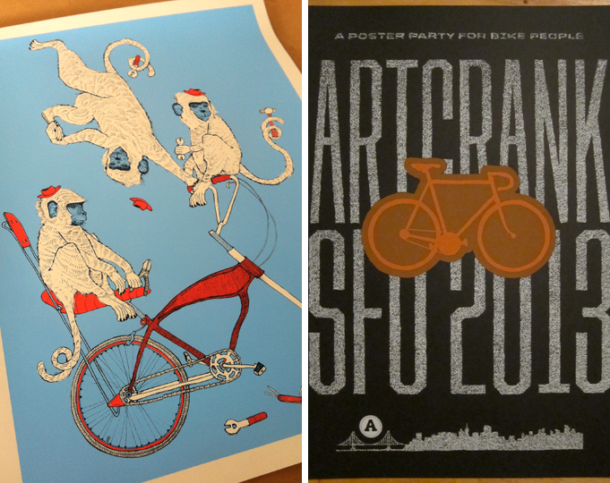 Left   Monkey Wrench final poster   Right   ARTCRANK SF 2013 official poster