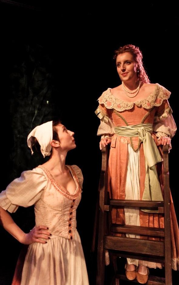 Elicia (Carley Cornelius) and Melibea (Bri Sudia)