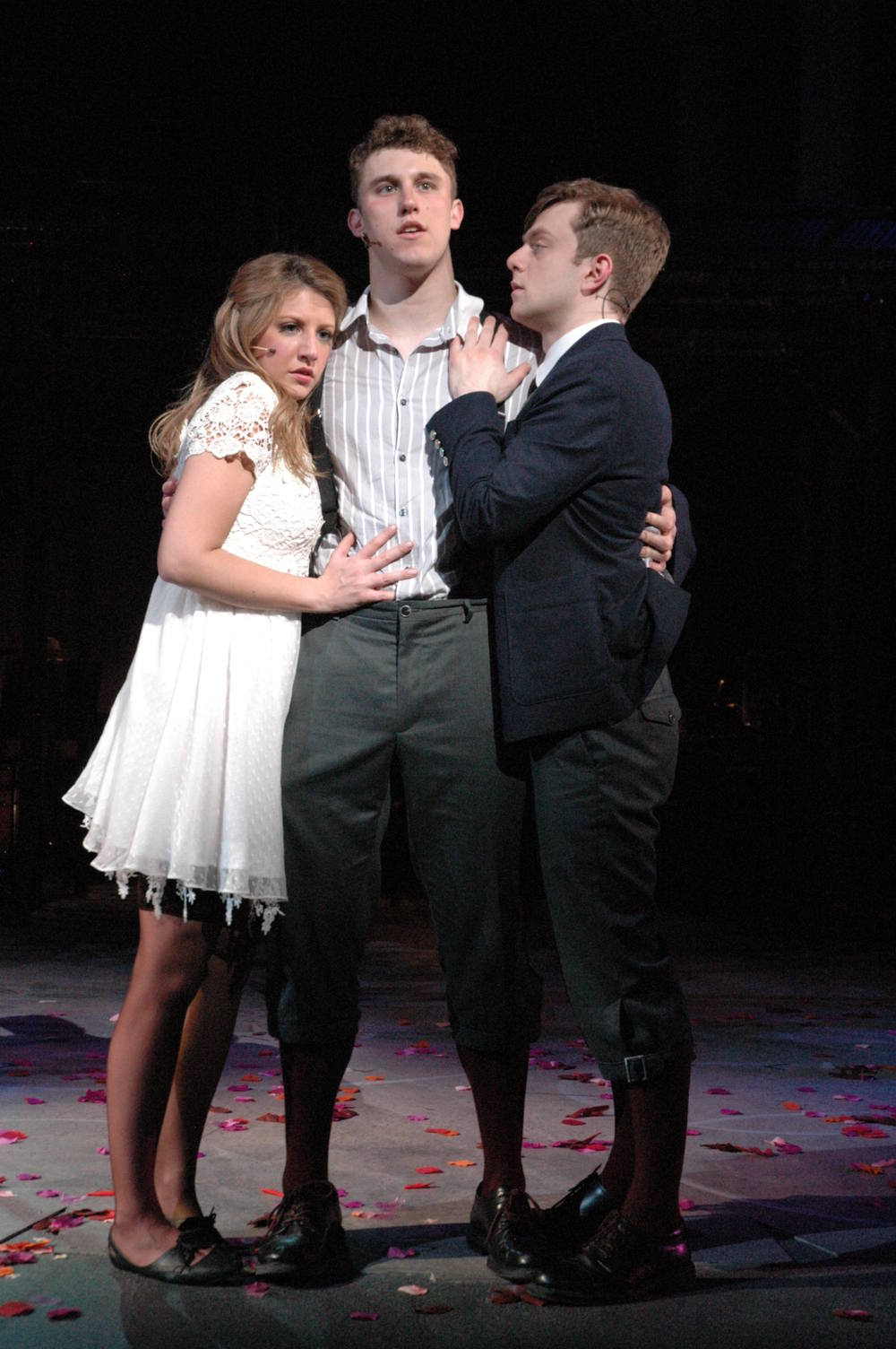 Wendla (Jaclyn Hergott), Melchior (David Kaplinsky) and Mortiz (Joe Boersma)