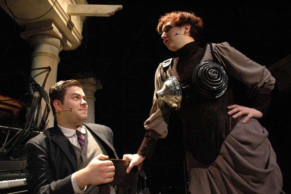 Dieter (Zach Moyer) and Grossebustenhalter (Lucy Chmielewski)