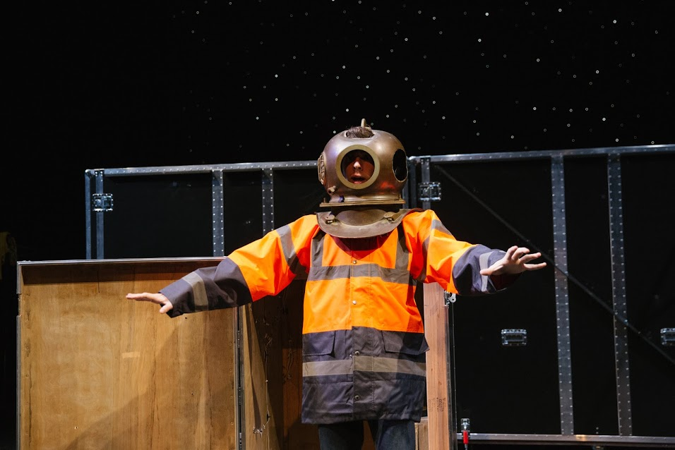 Simon Ives (Will Seefried) in his Spacesuit
