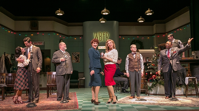 It's A Wonderful Life: A Live Radio Play   Adapted by: Joe Landry  Produced by: Shakespeare Theatre of New Jersey in the F.M. Kirby Shakespeare Theatre, 2017  Director : Doug West,  Scenic Designer : Charlie Calvert,  Costume Designer : Natalie Loveland,  Lighting Designer : Matthew Adelson,  Sound Designer : Steven Beckel,  Foley Artist : Warren Pace,  Vocal Arranger and Music Director : Doug Oberhamer  Production Stage Manager : Kathy Snyder,  Photographer:  Jerry Dalia