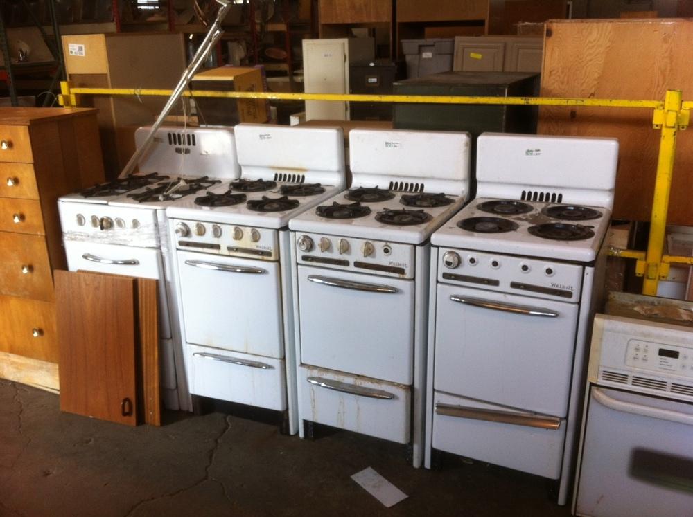 4 vintage Wedgewood stoves left at The ReBuilding Center. Get 'em before they're gone!