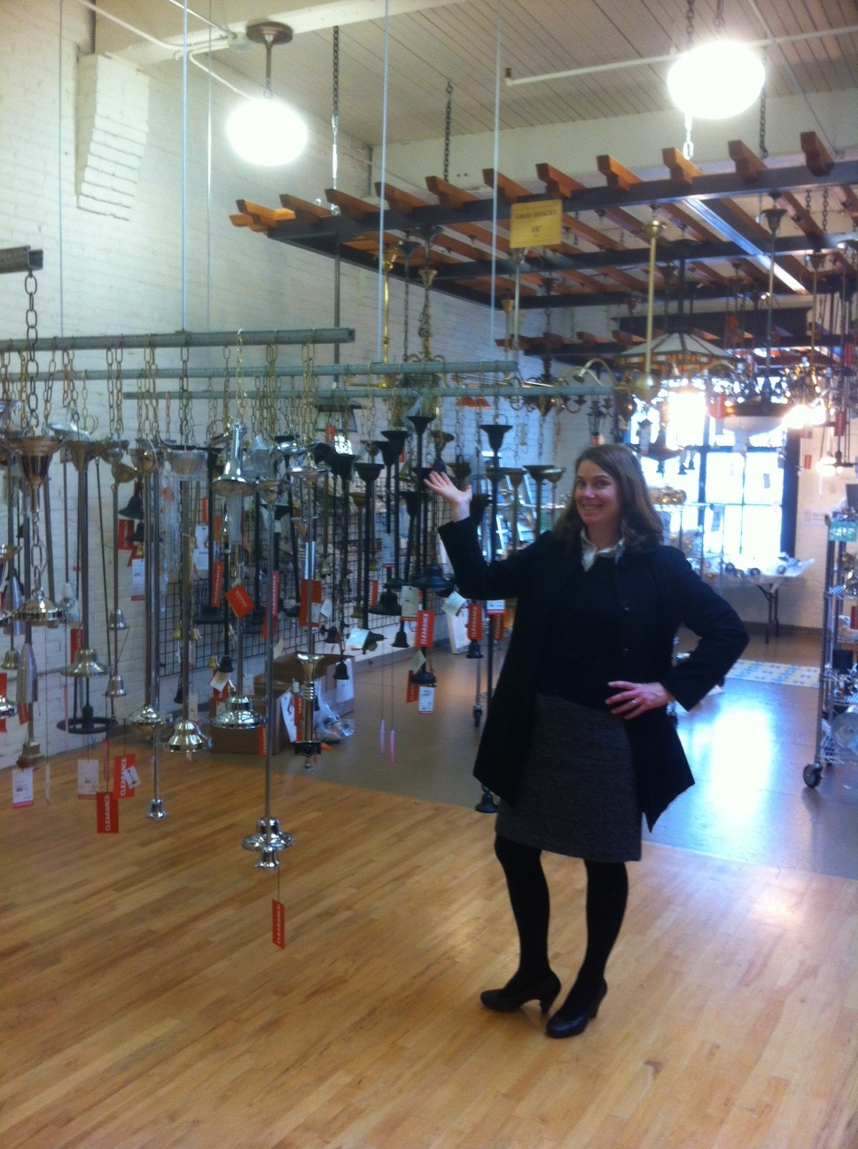 Ever been to the 2nd floor of Rejuvenation? Karoline has! Find all of your lighting needs at discount prices.