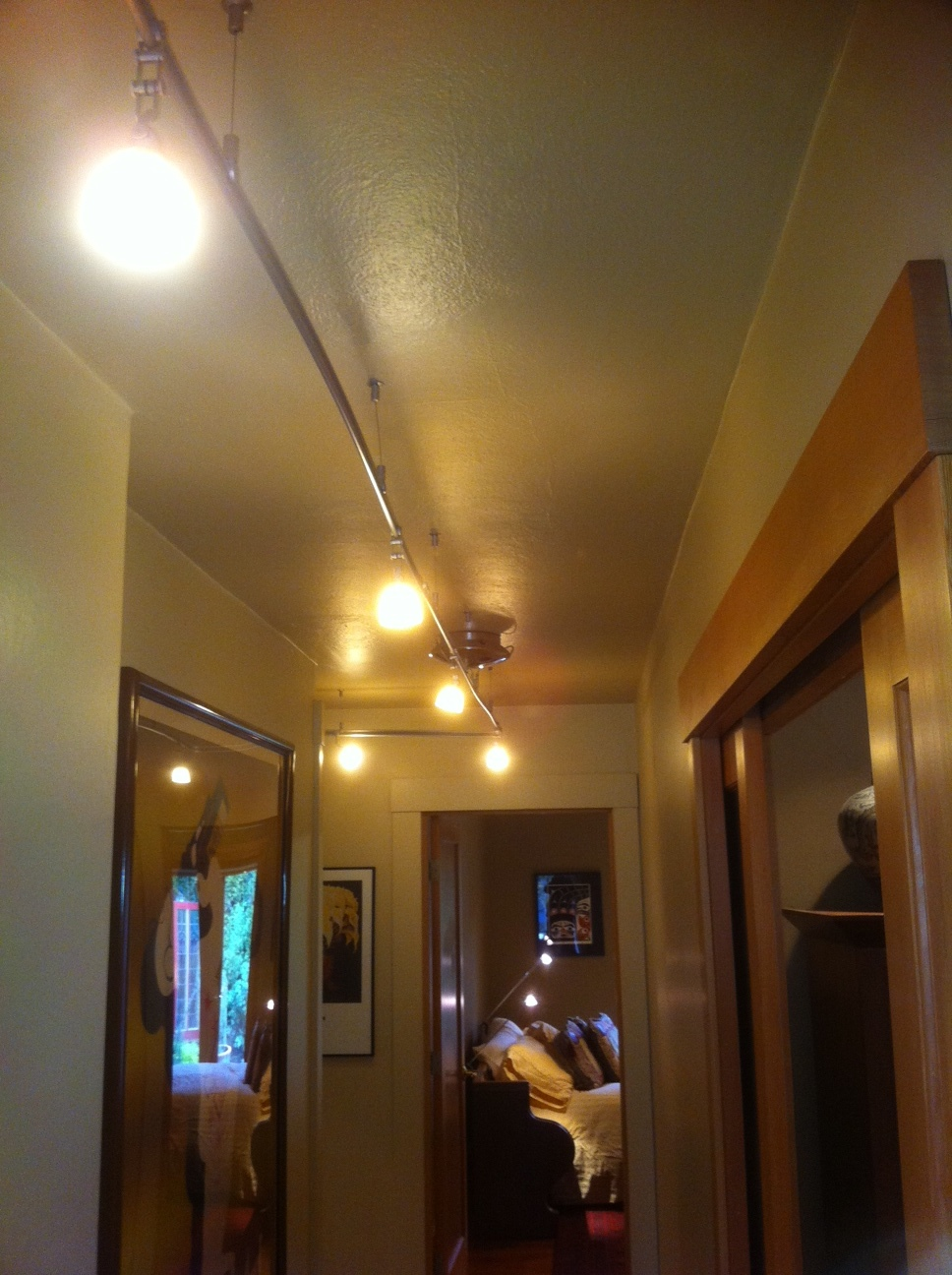 Try a string of lights down your hall to brighten up the space.