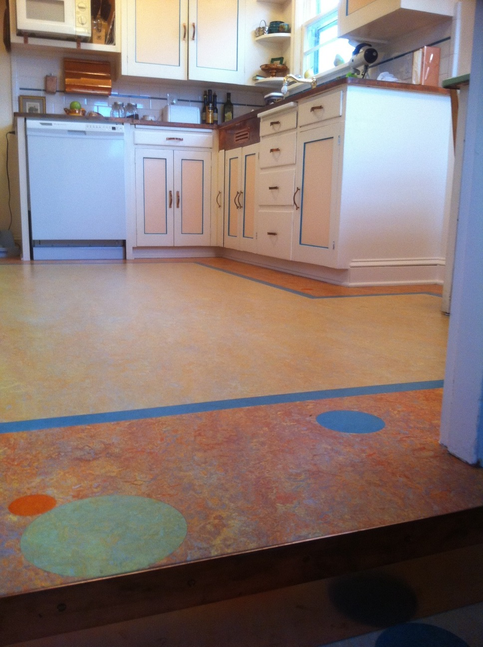 Marmoleum Masterpiece in Portland Oregon Home.