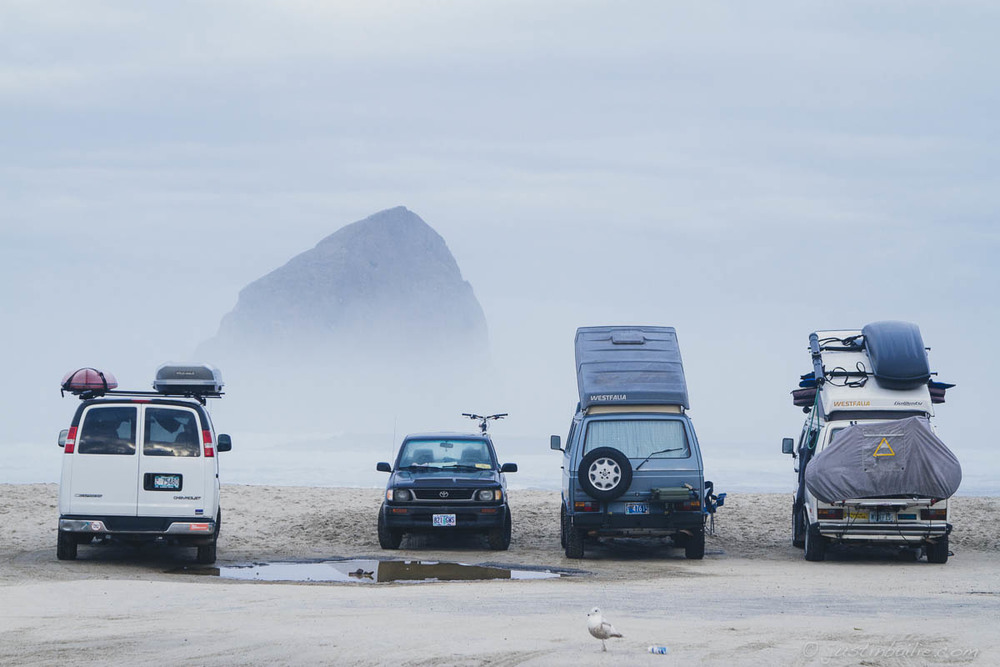 Van life. Pacific City, Oregon.
