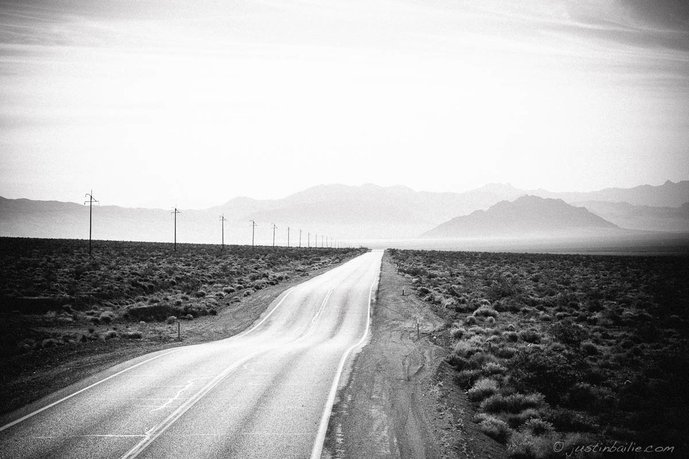 Roads for days in Death Valley, CA.