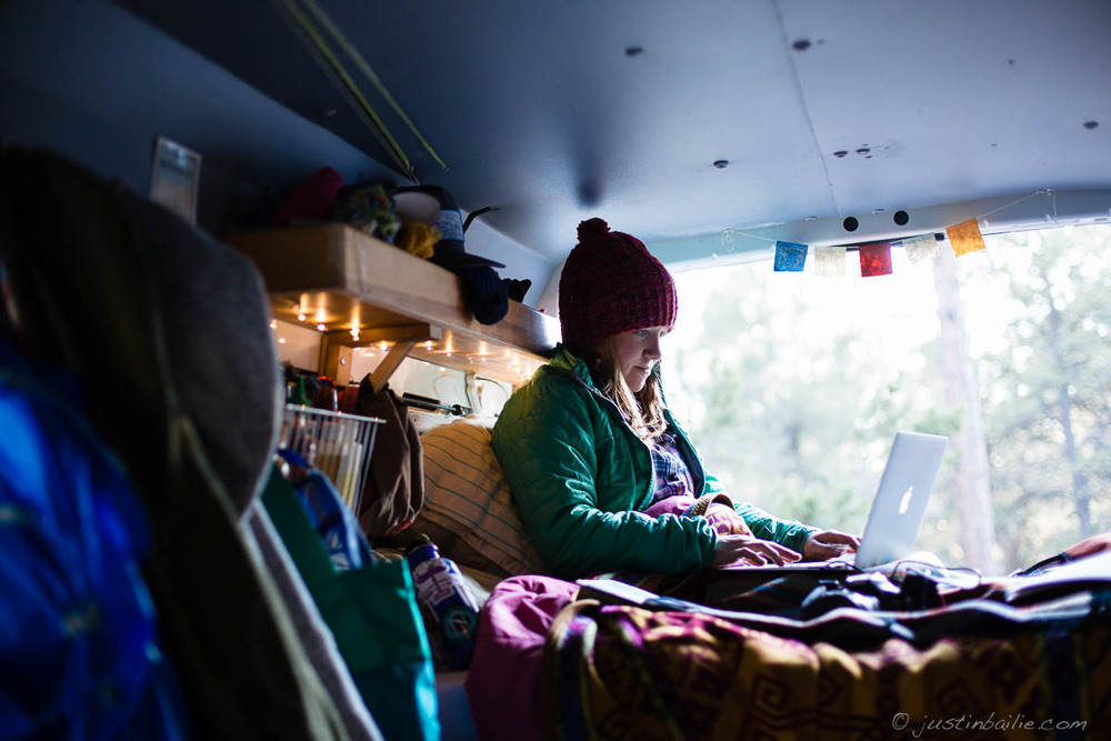 Working from the road. #vanlife