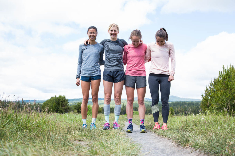 Lauren Fleshman and friends. Bend, Oregon
