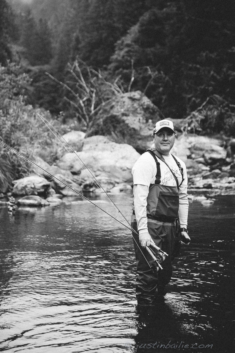 Portrait of fly fishing guide.