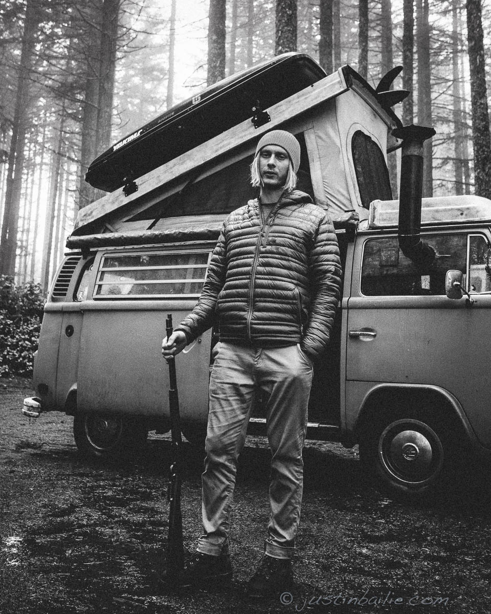 James Barkman. Van camping. Oregon
