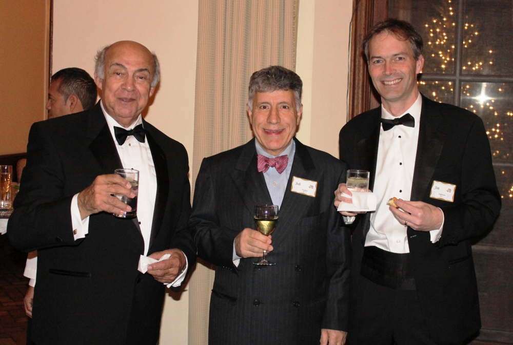 Board members George Speros and Job Youshaei with Composer in Residence Jim Stephenson at the November 30, 2012 Gala Celebrating Granger Cook, Jr. at the Onwentsia Club in Lake Forest.
