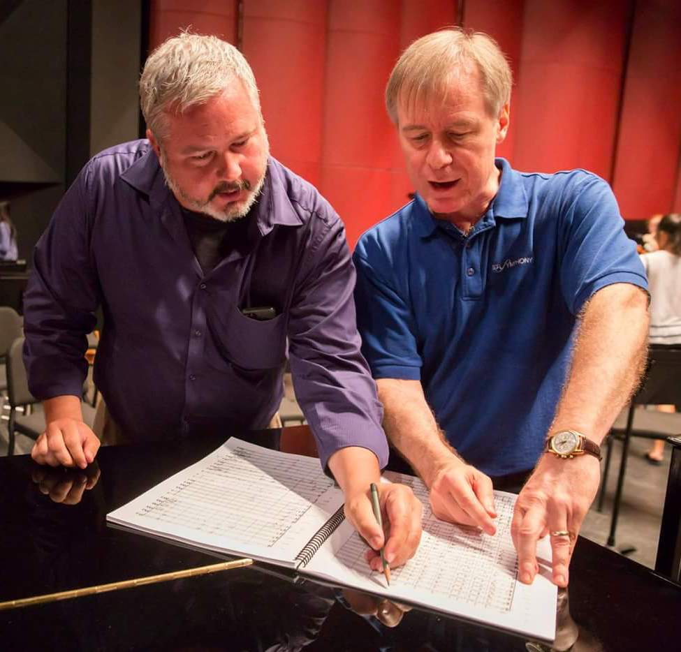 Paul Beck with conductor David Robertson (Photo: Chris Lee)