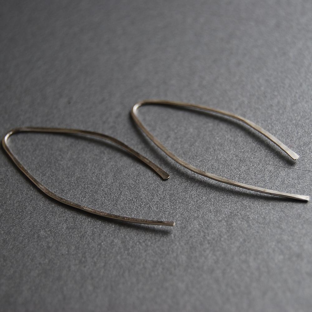 """Sterling Silver """"Wishbone"""" Earrings"""