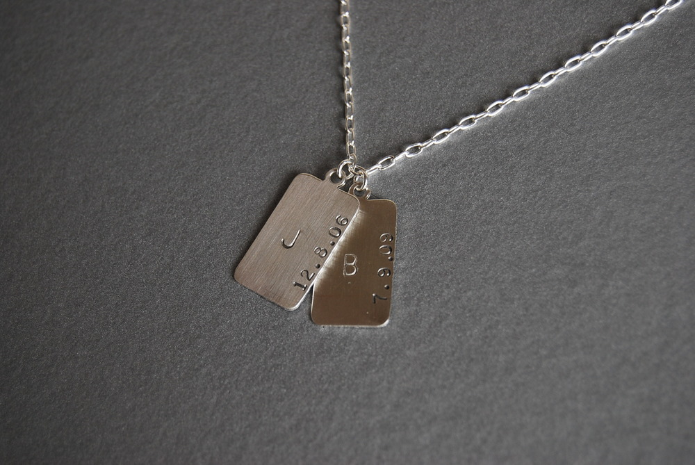 Initial and Birthdate Necklace