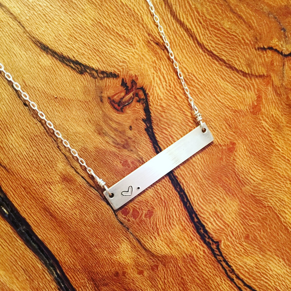 Sterling bar necklace (able to be personalized)