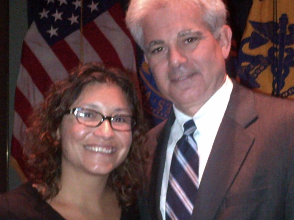 Mr. Miranda and Julie Chavez Rodriguez, White House Deputy Director of Public Engagement.