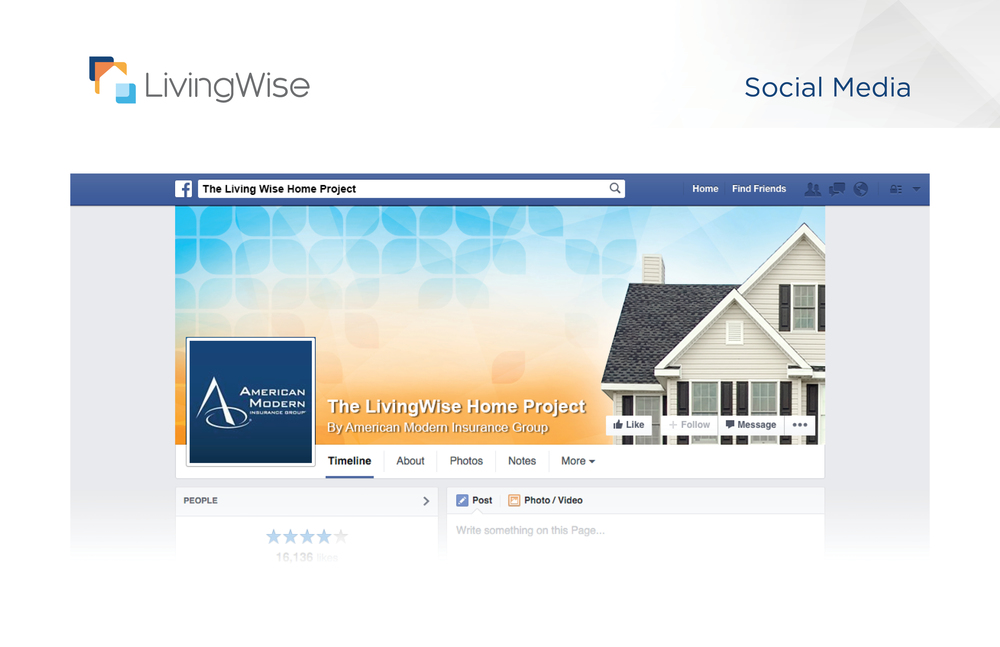LivingWise Facebook page design inspiration   Like the LivingWise Facebook page   — for every like received they will plant a tree (up to 10,000)