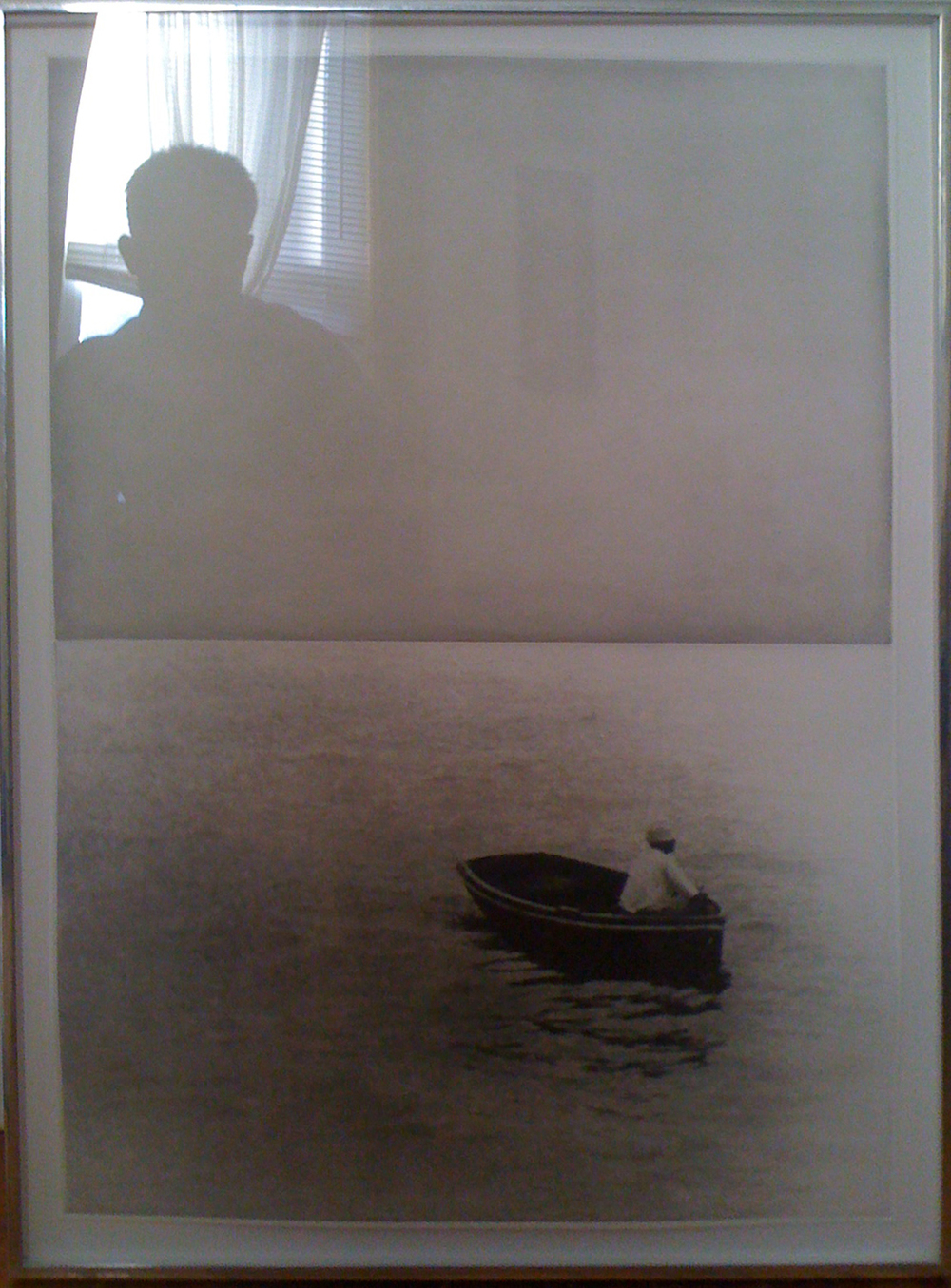 "John Baldessari ""Boat with Man Sitting"""